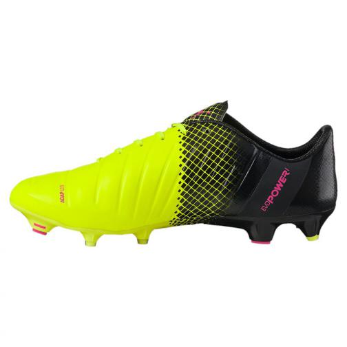 Puma Fußball-schuhe Evopower 1.3 Tricks Fg pink glo-safety yellow-black Tifoshop