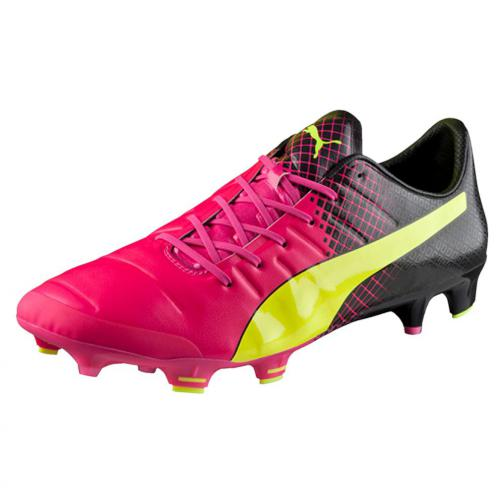Puma Football Shoes Evopower 1.3 Tricks Fg pink glo-safety yellow-black