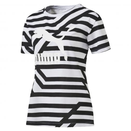 Puma T-shirt Aop Tee  Damenmode white-AOP Tifoshop