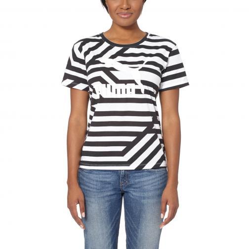 Puma T-shirt Aop Tee  Damenmode white-AOP