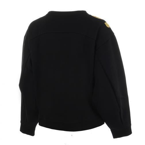 Puma Felpa Number 9 Crew Sweat  Donna Nero Tifoshop