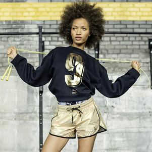 video Puma Felpa Number 9 Crew Sweat  Donna