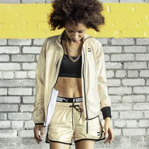 video Puma Veste Gold Windrunner  Femmes