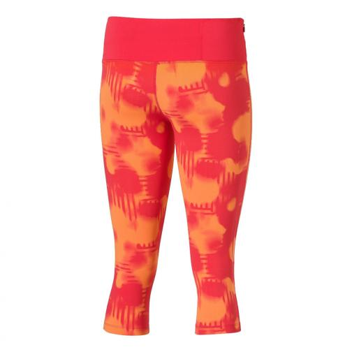 Asics Short Pants Fuzex knee Tight  Woman MELON SPLASH PRINT Tifoshop