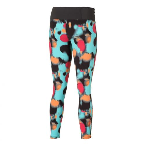 Asics Pant Fuzex 7/8 Tight  Woman TURQUOISE/BLACK SPLASH PRINT Tifoshop