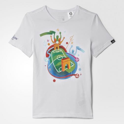 Adidas Originals T-shirt Stadium Graphic Tee  Junior White Tifoshop