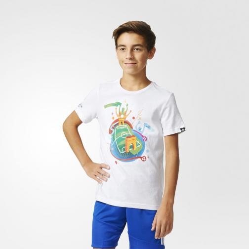 Adidas Originals T-shirt Stadium Graphic Tee  Junior White