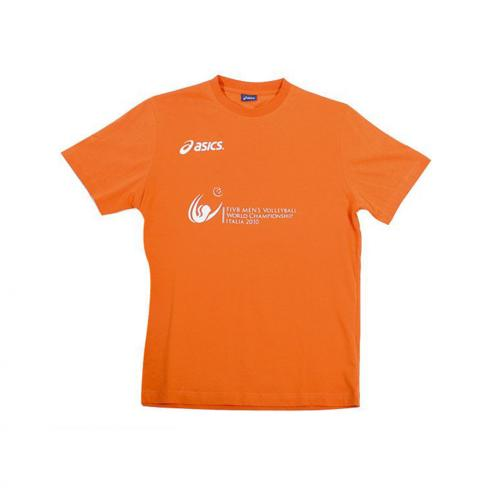 Asics T-shirt  Italy Juniormode ORANGE