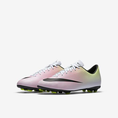 Nike Football Shoes Mercurial Victory V Fg Jr  Junior White Black Tifoshop