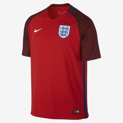 Nike Maglia Gara Away Inghilterra   16/18 Rosso