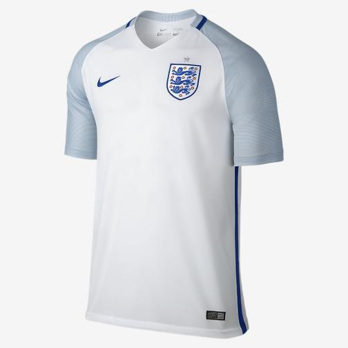 Nike Maglia Gara Home Inghilterra   16/18 Bianco