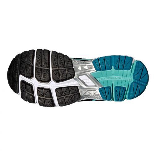 Asics Chaussures Gt-1000 4  Femmes BLACK / POOL BLUE / FLASH YELLOW Tifoshop