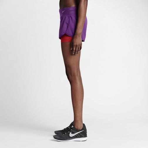 Nike Short Pants 7,5 Cm Rival Jacquard 2-in-1  Woman COSMIC PURPLE/BLACK/REFLECTIVE SILV Tifoshop