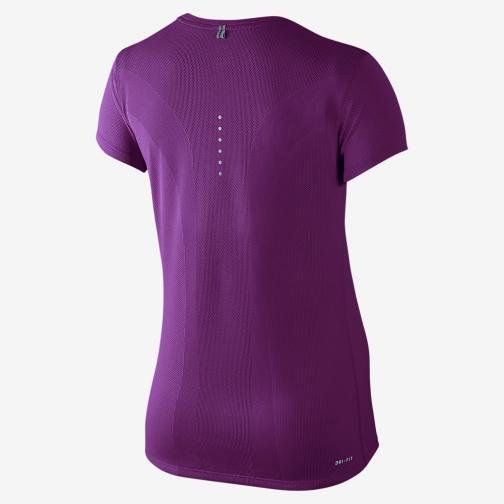 Nike T-shirt Nike Dri-fit Contour Short-sleeve  Femmes Cosmic Purple Tifoshop