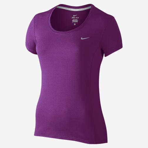 Nike T-shirt Nike Dri-fit Contour Short-sleeve  Femmes Cosmic Purple