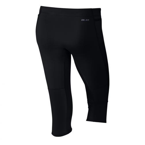 Nike Pantaloncino Tech Capris  Donna Nero Argento Tifoshop