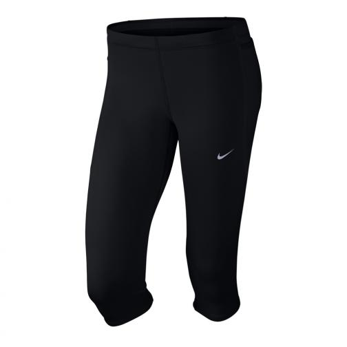 Nike Pantaloncino Tech Capris  Donna Nero Argento
