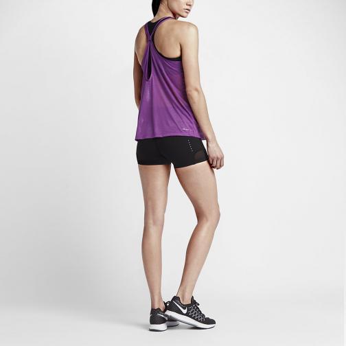 Nike Débardeur Dri-fit Cool Breeze Strappy  Femmes COSMIC PURPLE/BLACK/REFLECTIVE SILV Tifoshop