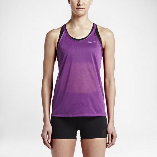 Nike Débardeur Dri-fit Cool Breeze Strappy  Femmes COSMIC PURPLE/BLACK/REFLECTIVE SILV