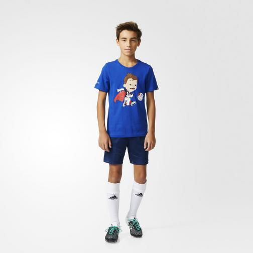 Adidas Originals T-shirt Mascot Graphic  Enfant Bold Blue Tifoshop