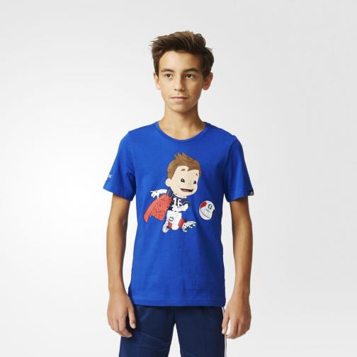 Adidas Originals T-shirt Mascot Graphic  Enfant Bold Blue