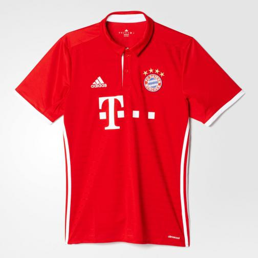 Adidas Shirt Home Bayern Monaco   16/17 Fcb True Red/White