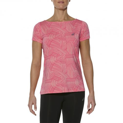 Asics T-shirt Fuzex printed Ss Top  Damenmode BRUSH PEACH MELBA Tifoshop