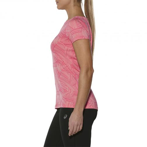 Asics T-shirt Fuzex printed Ss Top  Femmes BRUSH PEACH MELBA Tifoshop