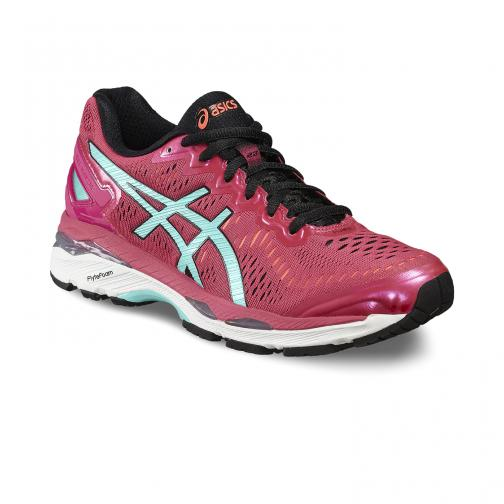 Asics Chaussures Gel-kayano 23  Femmes SPORT PINK/ARUBA BLUE/FLASH CORAL Tifoshop