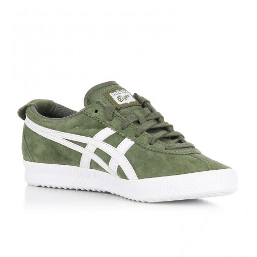 Onitsuka Tiger Shoes Mexico Delegation  Unisex CHIVE / WHITE Tifoshop