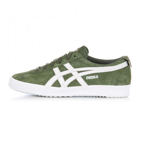 Onitsuka Tiger Shoes Mexico Delegation  Unisex CHIVE / WHITE