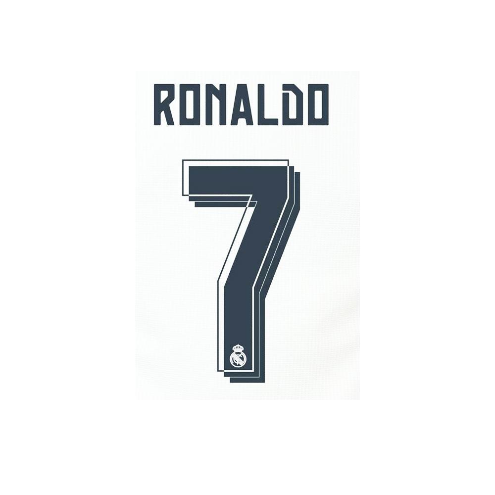 Sporting Id Scritta E Numero Ufficiale  Real Madrid Junior  15/16