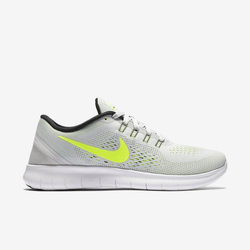 Nike Shoes Free Rn  Woman PURE PLATINUM/VOLT-BLACK-WOLF GREY