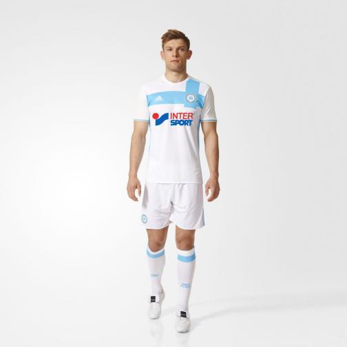 Adidas Maillot De Match Home Olympique Marseille   16/17 White / Om Blue / Light Football Gold Tifoshop