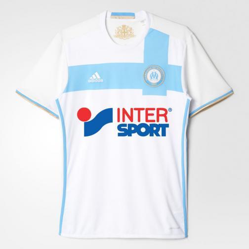Adidas Maillot De Match Home Olympique Marseille   16/17 White / Om Blue / Light Football Gold