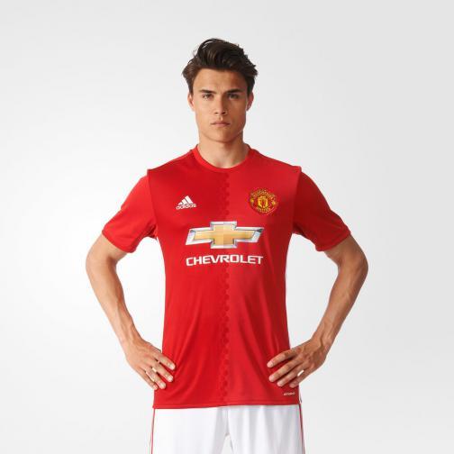 Adidas Maglia Gara Home Manchester United   16/17 Rosso Bianco Tifoshop