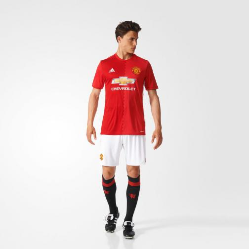Adidas Maillot De Match Home Manchester United   16/17 real red s10/power red/white Tifoshop