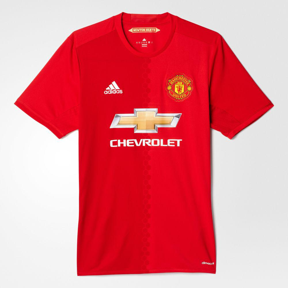 Adidas Maillot De Match Home Manchester United   16/17
