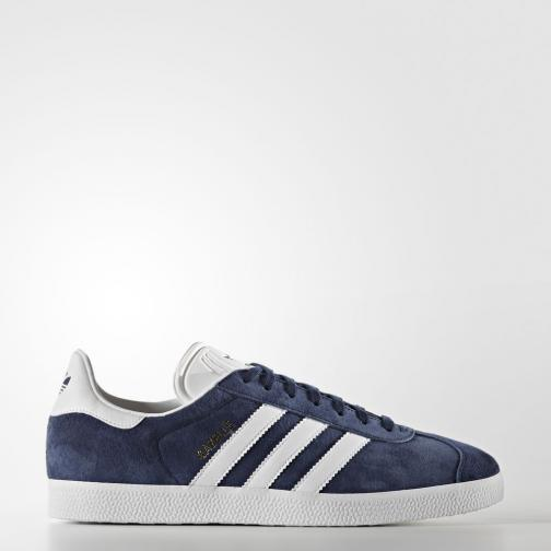 Adidas Originals Chaussures Gazelle collegiate navy/white/gold met