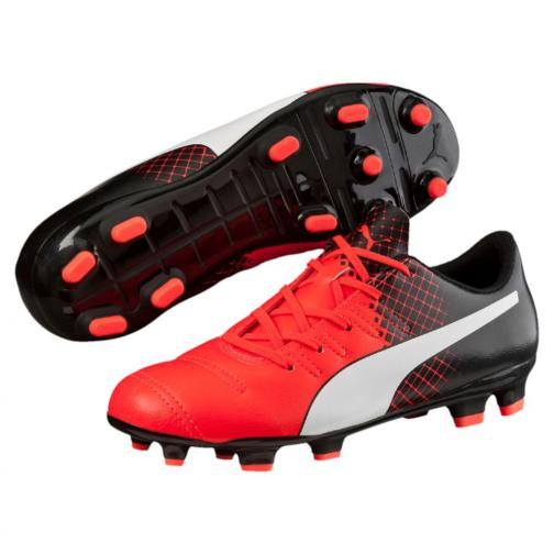 Puma Chaussures De Football Evopower 4.3 Tricks Fg Jr  Enfant Red Blast-Puma White-Puma Black Tifoshop