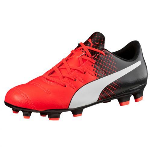 Puma Fußball-schuhe Evopower 4.3 Tricks Fg Jr  Juniormode Red Blast-Puma White-Puma Black