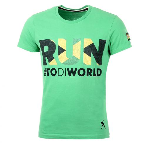T-shirt Run  Usain Bolt Verde Vintage