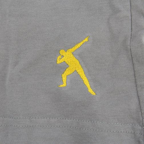 T-shirt Don't  Usain Bolt Grigio Vintage UsainBolt