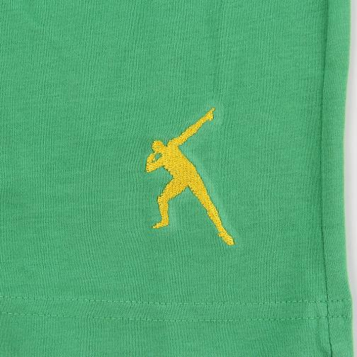 T-shirt Leone  Usain Bolt Verde Vintage UsainBolt