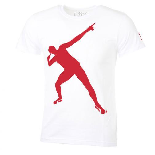 T-shirt  Usain Bolt Bianco Rosso