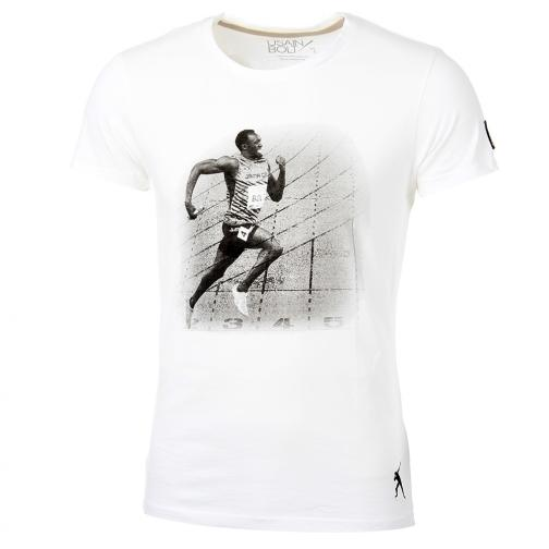 T-shirt Run  Usain Bolt Bianco Vintage