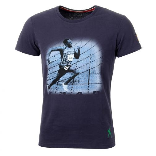 T-shirt Run  Usain Bolt Vintage Navy