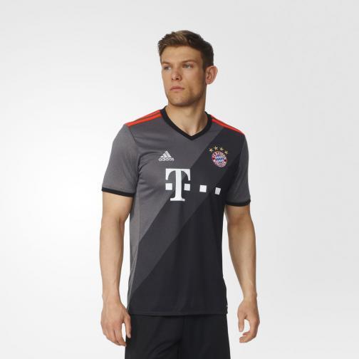 Adidas Maglia Gara Away Bayern Monaco   16/17 Grigio Tifoshop