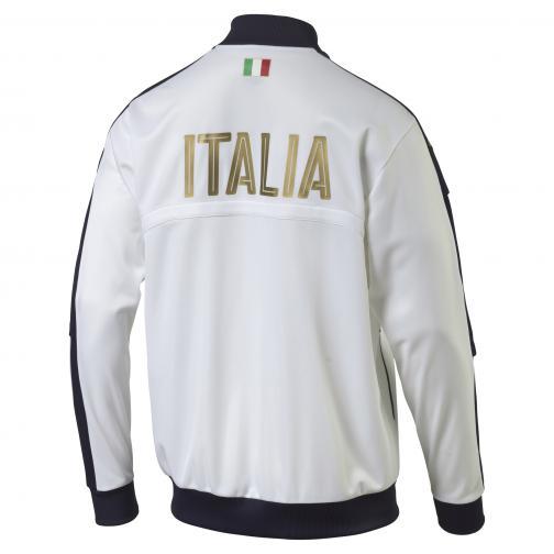 Puma Felpa  Italia Bianco Blu Tifoshop