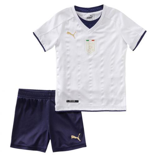 Puma Completo Gara Away Italia Baby  16/17 Bianco